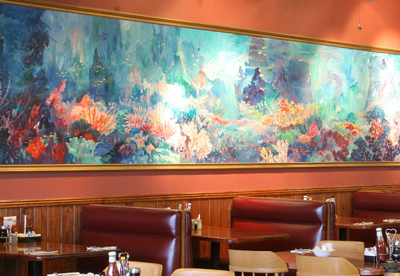 The art of famous Vietnamese artist Tri Minh Nguyen is on display at Cindi's Campbell Road location