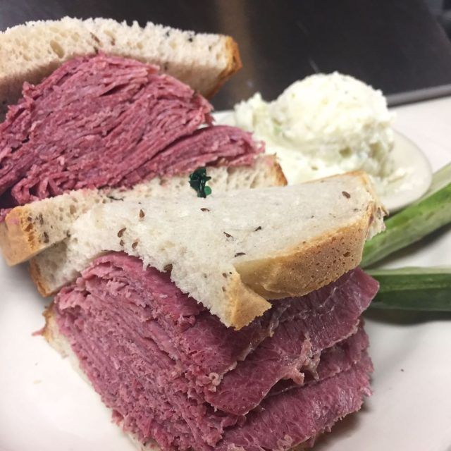 Nothing like a delicious CornedBeef sandwich to help get youhellip