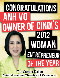 An Vo: 2012 Woman Entrepreneur of the Year
