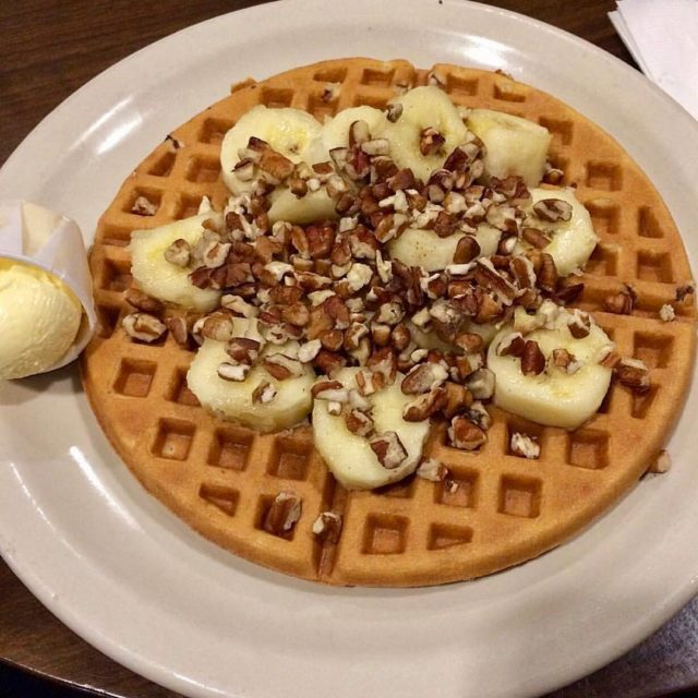 Dreaming of Banana Pecan Waffles for breakfast tomorrow