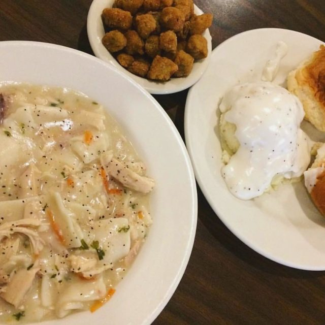 The perfect comfort meal  chicken and dumplings biscuits andhellip